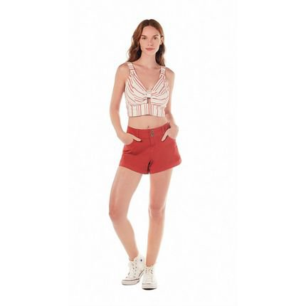 Zinco Shorts Zinco  Five Pockets Tinturado  Vermelho 9DkKD