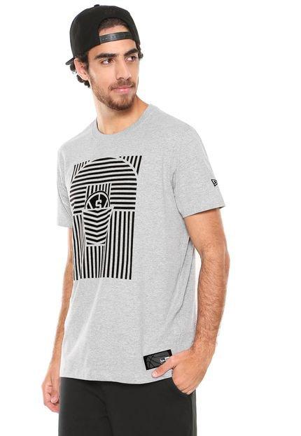 Camiseta New Era San Antonio Spurs Cinza