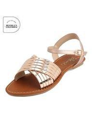 Sandalia Dama Oro Rosa Tellenzi 2110