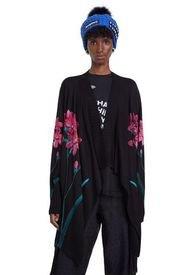 Cardigan Negro-Multicolor Desigual