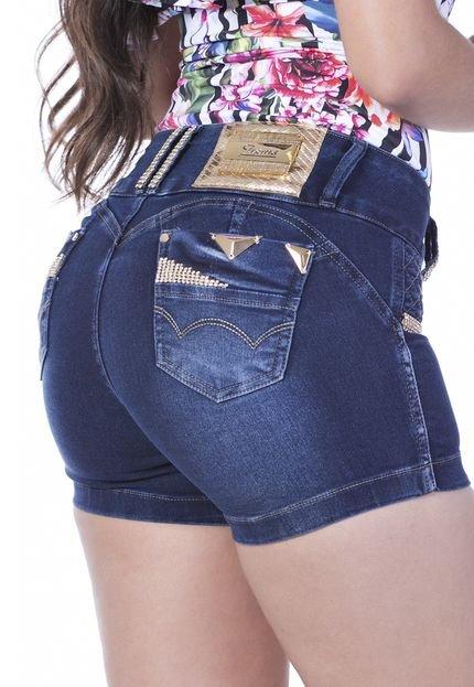 Shorts Zigma Levanta Bumbum Azul - Marca Zigma