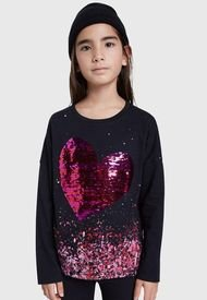 Polera Desigual Niña Coventry Negro - Calce Regular