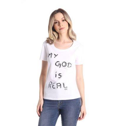 Daniela Cristina T-Shirts Daniela Cristina Gola U Profundo 22 10260 2 Branco - Branco - PP 1RDis