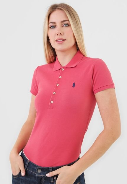 Polo Ralph Lauren Camisa Polo Polo Ralph Lauren Reta Logo Vermelha oBY1x