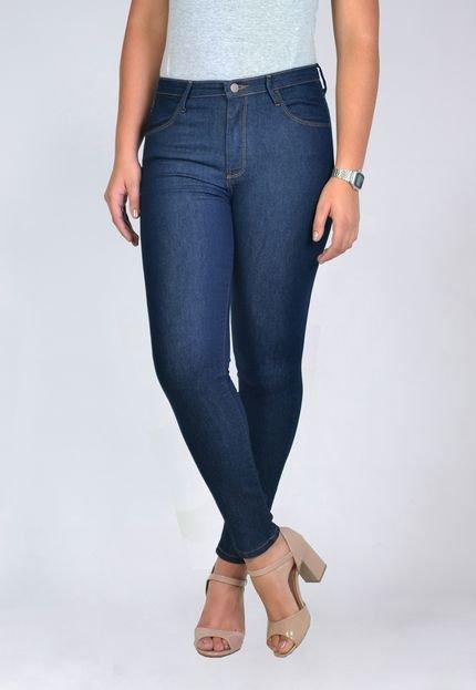 Yck's Calça Jeans Cigarrete Escura Cintura Alta Yck's ANpmR
