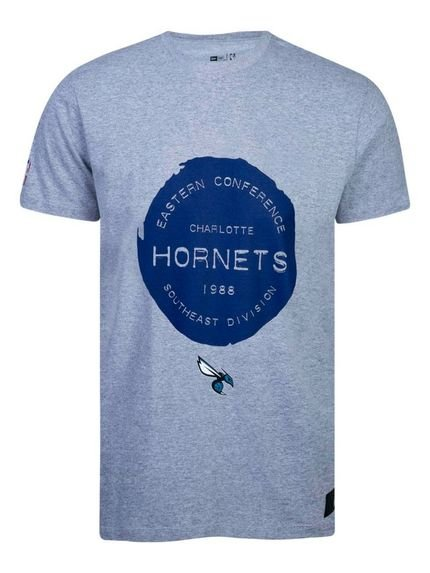 T-shirt New Era Regular Charlotte Hornets Mescla Cinza
