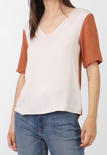 Calvin Klein Blusa Calvin Klein Color Block Bege/Marrom Hy1zE
