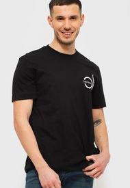 Polera Calvin Klein CK CHEST PRINT T-SHIRT Negro - Calce Regular