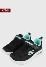 Tenis Lifestyle Negro-Verde-Blanco Skechers Microspec Max