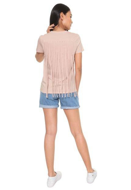 Calvin Klein Camiseta Calvin Klein Franjas Bege