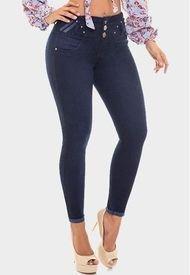 Jeans Levanta Cola Azul Oscuro Cheviotto